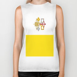 Flag Of Vatican City Biker Tank