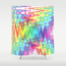 I Bleed Rainbows and Glitter Shower Curtain