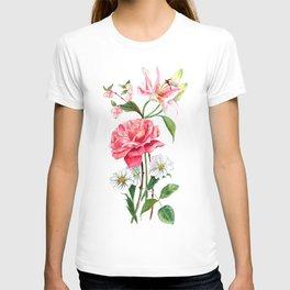 Vintage Rose Bouquet T-shirt