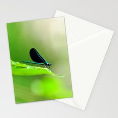 Blue Damsel and the Lime Green Sky Stationery Cards