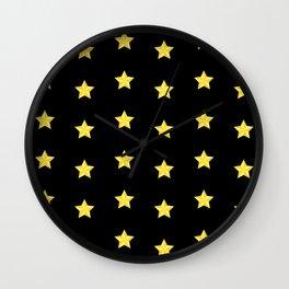 The Stars Pattern Wall Clock