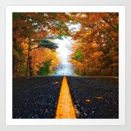 Autumn Photography - Asphalt Road Art Print