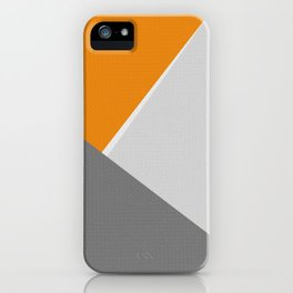 Orange And Gray iPhone Case