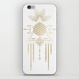 Golden Goddess Mandala iPhone Skin