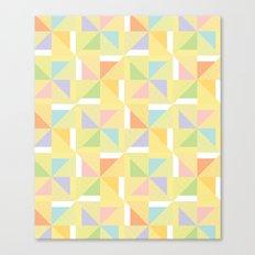 PINWHEELS - YELLOW Canvas Print