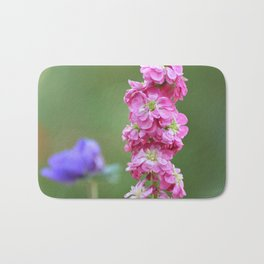 Snap Dragon Floral Pink Flower Bath Mat