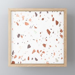 Terrazzo Faux Copper, Mauve and Blush Pink Framed Mini Art Print