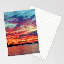 Sunset on Lake St. Clair in Belle River, Ontario Stationery Cards