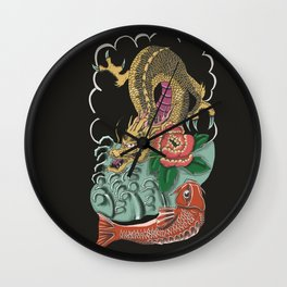 Yakuza Tattoo Wall Clock