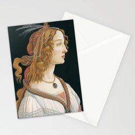 Sandro Botticelli, Idealized Portrait of a Lady, 1480 Stationery Cards