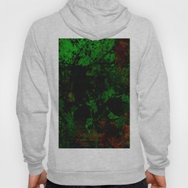 Dark Forest - Abstract, textured, green brown and black painting Hoody
