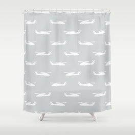 Grey Hawks Shower Curtain