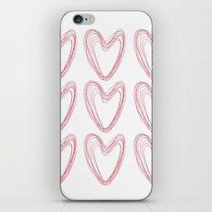 Nine Red Hearts iPhone & iPod Skin