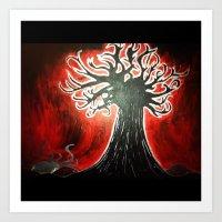 In My Tree Painting Art Print