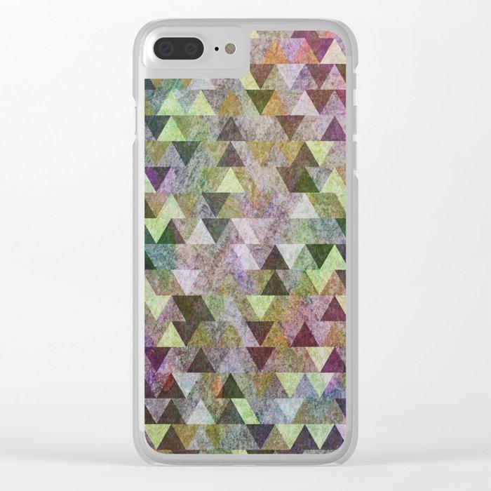 Geometric Pattern VIII Clear iPhone Case