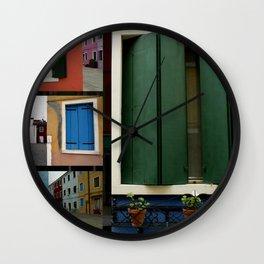 The windows of Venice Wall Clock