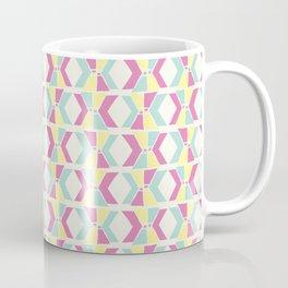 Magenta, Yellow, and Turquoise geometric hourglass pattern Coffee Mug