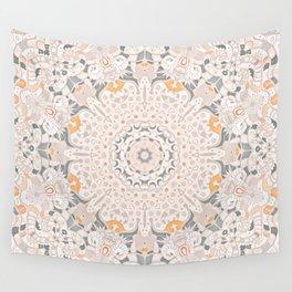 BOHO SUMMER JOURNEY MANDALA - SUNSHINE YELLOW GREY Wall Tapestry