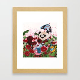 the bath Panda Framed Art Print