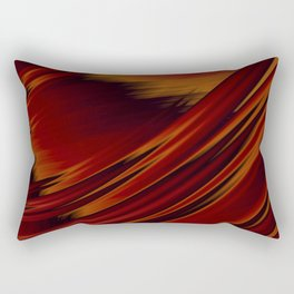 Dark Red Abstract Fractal Rectangular Pillow