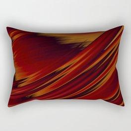 Dark Red Abstract Fractal Rectangular Pillow