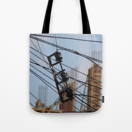 Fios e construção (1) Tote Bag