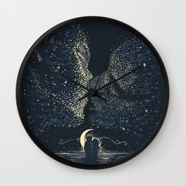 Star Crossed Wall Clock