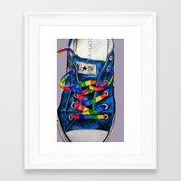 converse Framed Art Prints featuring Converse by Tina Mooney