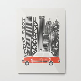 Hong Kong City Metal Print