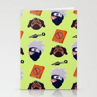 kakashi Stationery Cards featuring Kakashi Pattern by Palloma