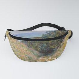 """Claude Monet """"Road at La Cavée, Pourville"""" Fanny Pack"""