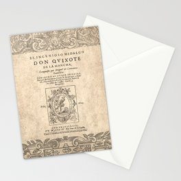 Cervantes. Don Quijote, 1605. Stationery Cards