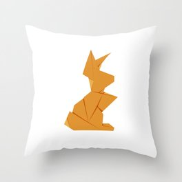 Origami Hare Throw Pillow