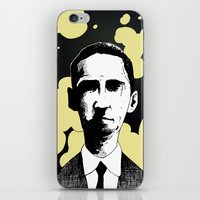 lovecraft iPhone & iPod Skins featuring H.P. Lovecraft by James Courtney-Prior
