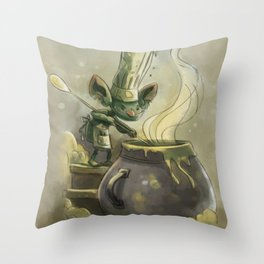 Goblins Drool, Fairies Rule! - Earwax Stew Throw Pillow