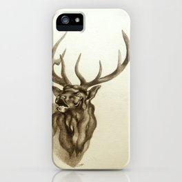 Elk Portrait - In the Roar iPhone Case