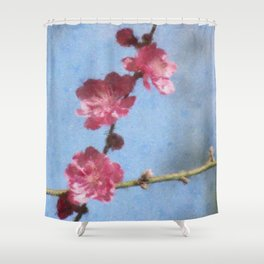 Fruit Blossom Impression Shower Curtain