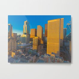 Downtown Seattle Skyline at Sunset 2 Metal Print