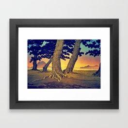 Domi's Heart at Sunset Framed Art Print