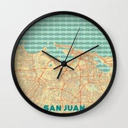 San Juan Map Retro Wall Clock