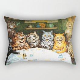 Kitty Happy Hour - Louis Wain's Cats Rectangular Pillow