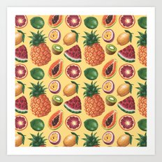 Fruit Pattern Art Print