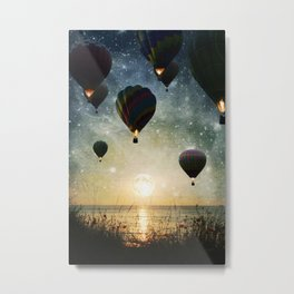 Lighting the night Metal Print