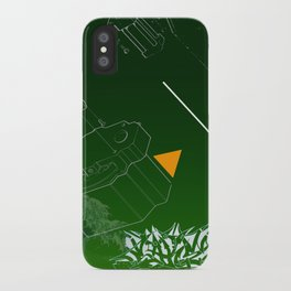 Green Wave iPhone Case