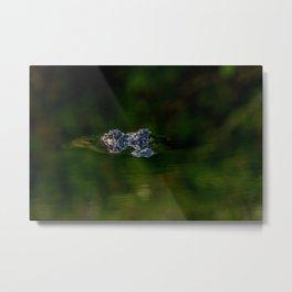 Abstract Alligator Metal Print