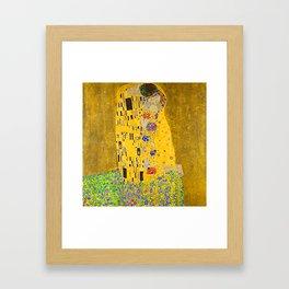 The Kiss Gustav Klimt -1908-1909 Framed Art Print