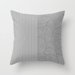 Two Lines Throw Pillow