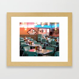 Vintage Graceland Diner Framed Art Print