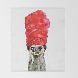 Red Turban Throw Blanket