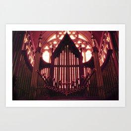 St Patrick's Cathedral Pipe Organ Art Print